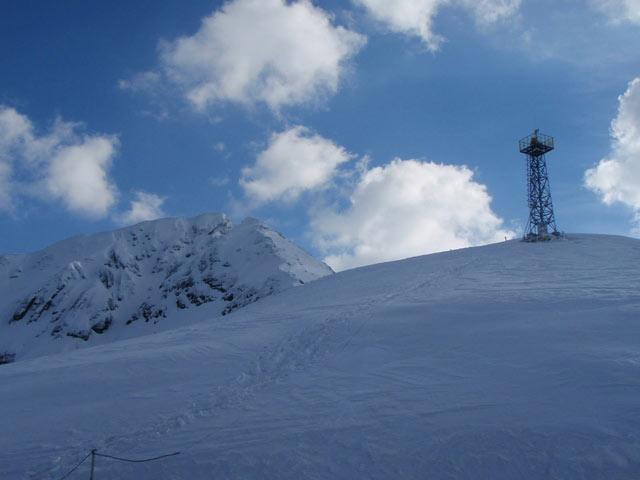 Das Infrarot-Brandfrüherkennungssystem ist auf einem 20 m hohen Turm montiert.