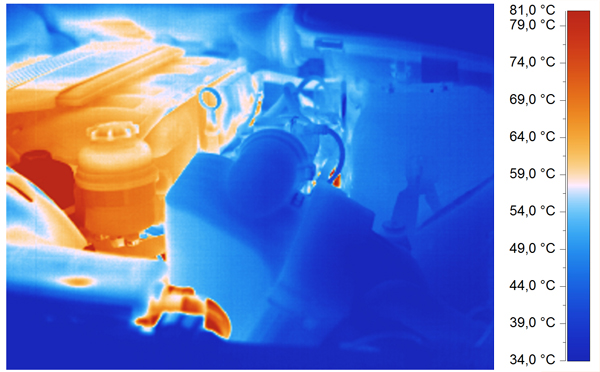 Infrared image of a motor - process control