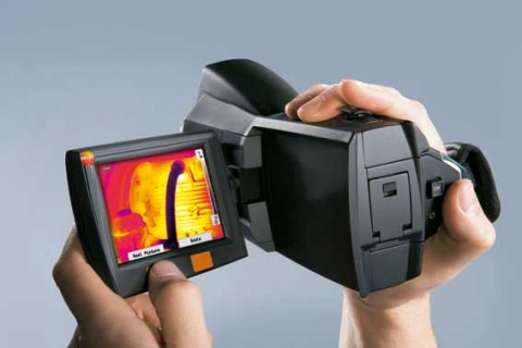 Portable infrared cameras for building thermal imaging
