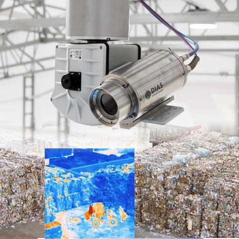 Our infrared camera PYROVIEW with pan-tilt head can also be used in early fire detection