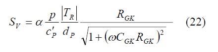 Formel: Empfindlichkeit im Strombetrieb