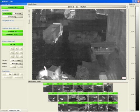 Thermal imaging software for early fire detection: PYROSOFT FDS. The monitoring of a paper mill is shown on the photo.