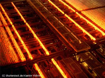 Abbildung 2: Strangußanlage (Überwachung der zusätzlichen Kühlung mittels Infrarotkamera PYROVIEW)
