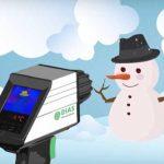 Schneemann Temperatürüberwachung -und Messung mit der portablen Wärmebildkamera von DIAS Infrared