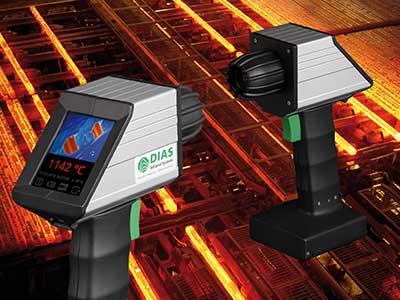 Portable Wärmebildkamera PYROVIEW 480N für Hochtemperaturmessungen von 600 °C bis 1500 °C (optional 1400 °C bis 3000 °C) bei kurzen Wellenlängen von 0,8 µm bis 1,1 µm (Bildnachweis: Shutterstock.de/Aleattin Yildirim, DIAS Infrared GmbH)
