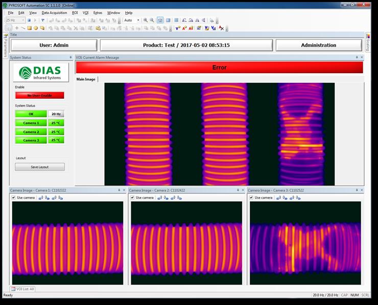 Thermische Rundum Inspektion mit PYROSOFT AutomationSC von DIAS